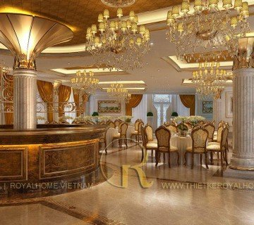 Thiết kế nội thất Tân Cổ Điển - NHÀ HÀNG LÃ VỌNG ĐỐNG ĐA